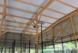 Estructura de madera laminada pista de padel - Maderas Jimeno