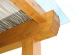 Porche de madera acristalado detalle - Maderas Jimeno