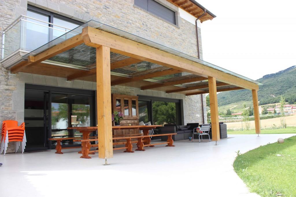 Porches de madera navarra materiales de construcci n - Madera para porches ...